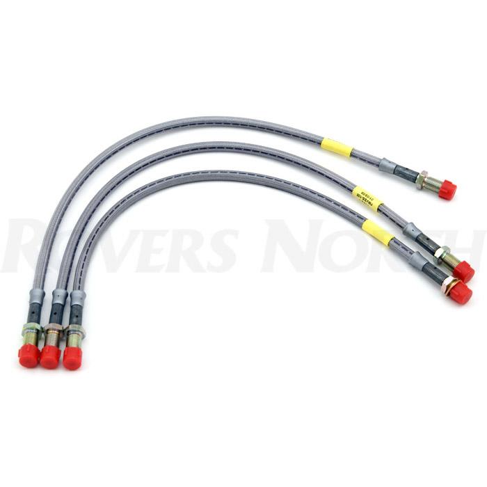 Stainless Steel Flexible Brake Lines : Stainless brake flex lines defender quot set sbl e